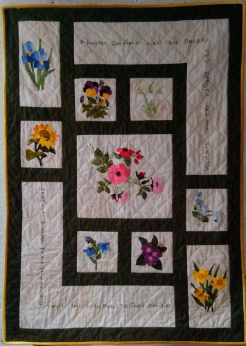 Flowers through the year block of the month